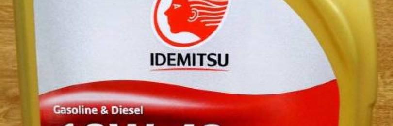 Масло-«полусинтетика» марки IDEMITSU 10W40 SN/CF для дизельных и бензиновых четырехтактных двигателей современной сборки