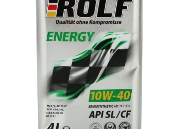Масло марки ROLF ENERGY 10W40 SL/CF — энергия в железной банке
