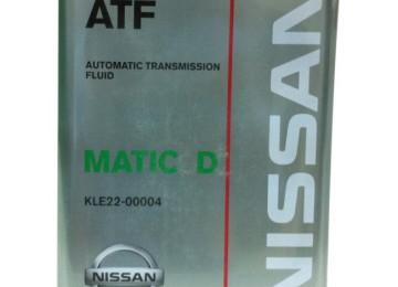 Машинное масло марки NISSAN Matic Fluid D для автоматической коробки переключения передач