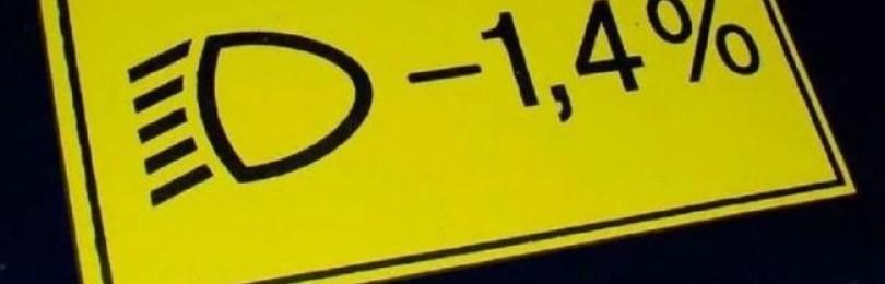 Это надо знать: что все-таки обозначает наклейка «1,4%» под капотом автомобиля