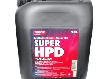 Масло марки TEBOIL SUPER HPD SAE 10W40 сохранит моторы тяжелой техники