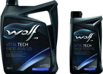 Масло-«синтетика» марки WOLF VITALTECH 5W30 заметно снизит расход топлива