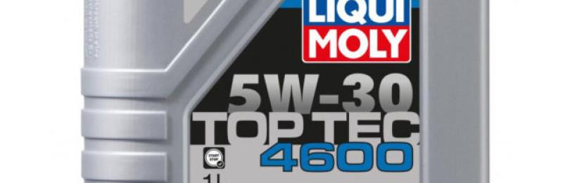 Масло наивысшего класса марки LIQUI MOLY Top Tec 4600 5W30 — для современных дизельных, многоклапанных и бензиновых двигателей