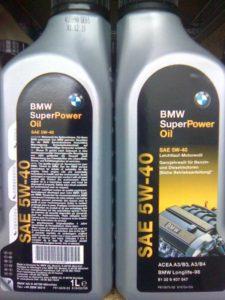 Плюсы и минусы масла марки BMW Super Power Oil 5W40