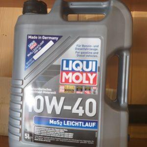 Применение продукта MoS2 Leichtlauf 10W40