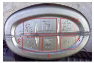 Значение дополнительной маркировки на дне упаковки.